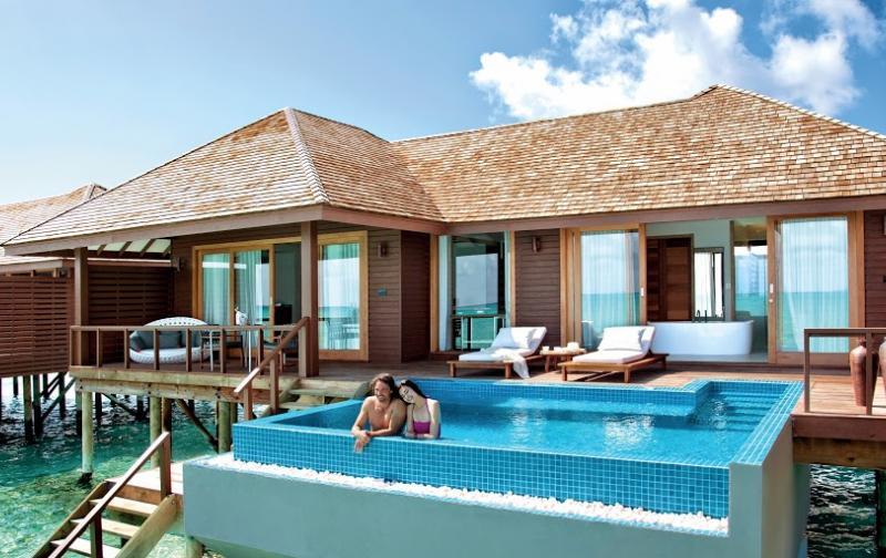 Deluxe Water Villa with Pool - Hideaway Beach Resort
